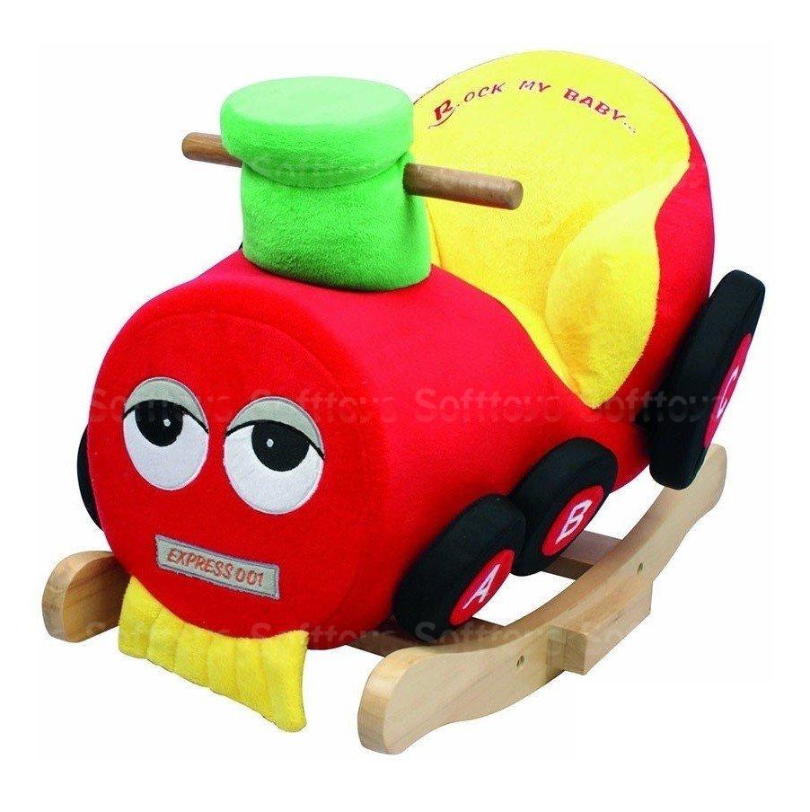 Детское кресло - качалка с музыкой Поезд