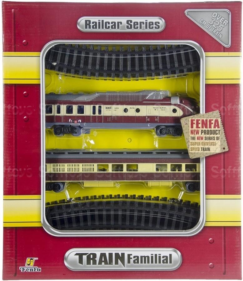 Железная дорога Паровоз с вагоном 1:87
