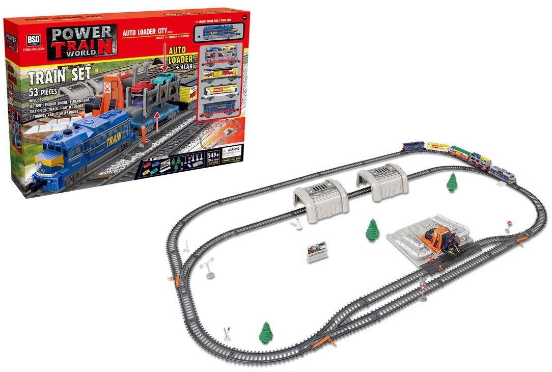 Железная дорога с машинками