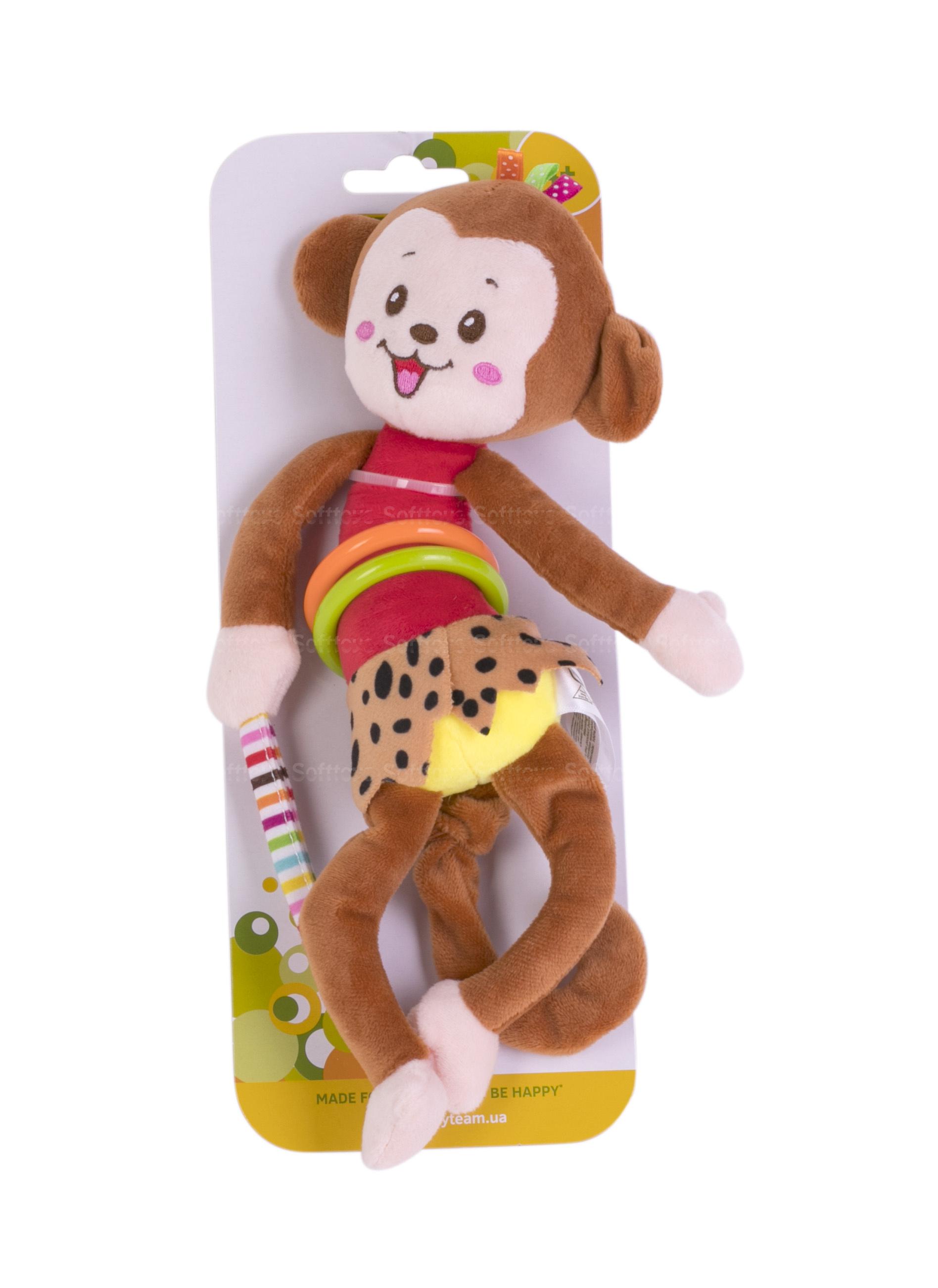 Игрушка-подвеска вибрирующая BabyTeam Обезьянка