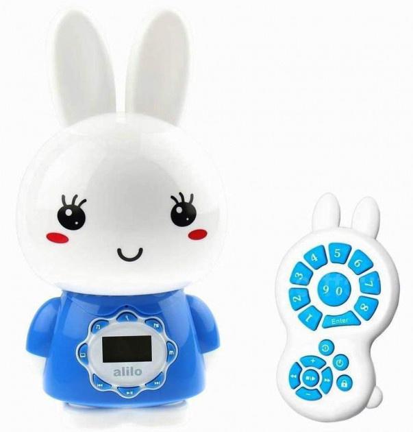 Интерактивная игрушка ночник-плеер Alilo Big Bunny G7_Blu