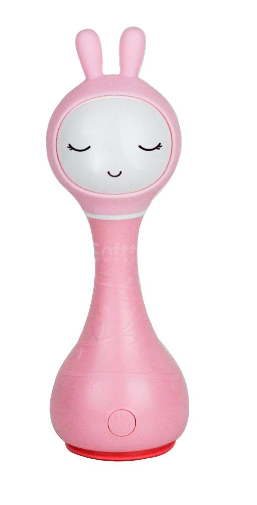 Интерактивная обучающая игрушка с ночником Alilo Smarty Зайка R1_Pink