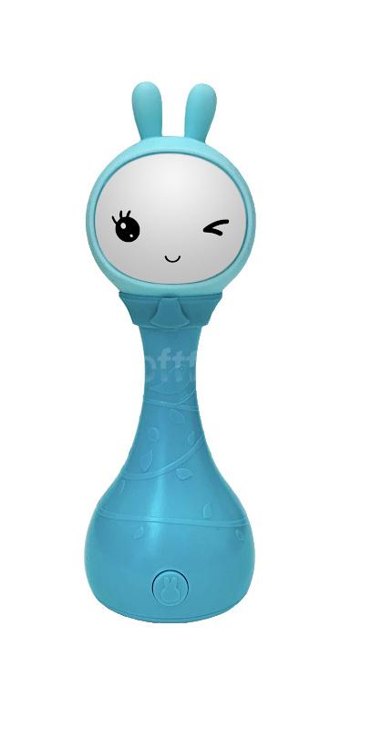 Интерактивная обучающая игрушка с ночником Alilo Зайка R1_YoYo_Blu