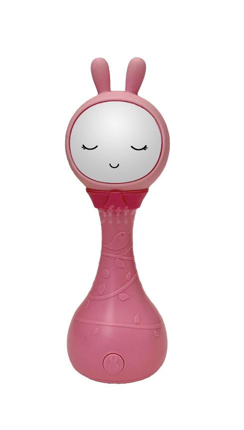 Интерактивная обучающая игрушка с ночником Alilo Зайка R1_YoYo_Pink