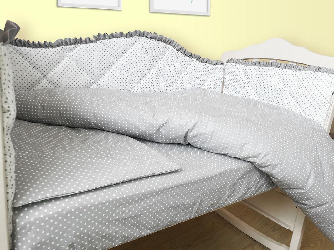 Комплект в кроватку 120*60 Joy (6 ед) Королевский с сатиновой лентой (защита из 4 ед)