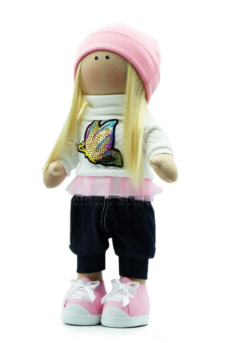 Текстильная Кукла ручной работы Милана