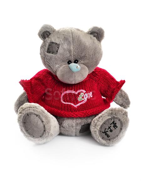 Мишка Тедди в  свитере (Gray) 45 см