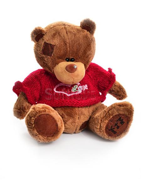 Мишка Тедди в свитере (brown) 65 см