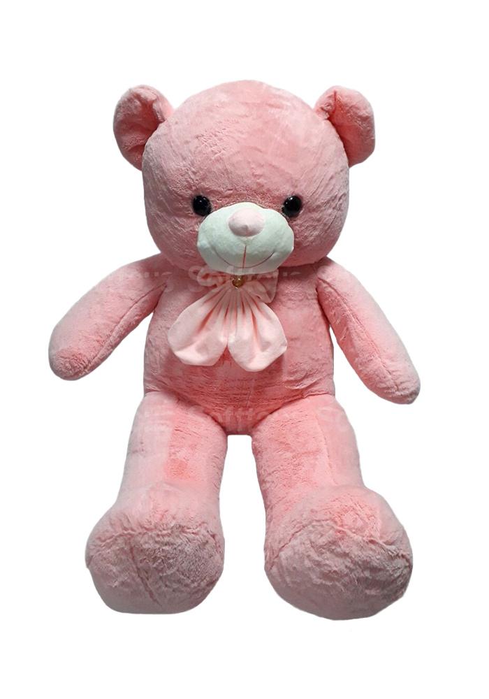 Мишка праздничный (розовый) 115 см