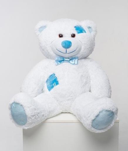 Мистер Медведь с латками 100 см Белый