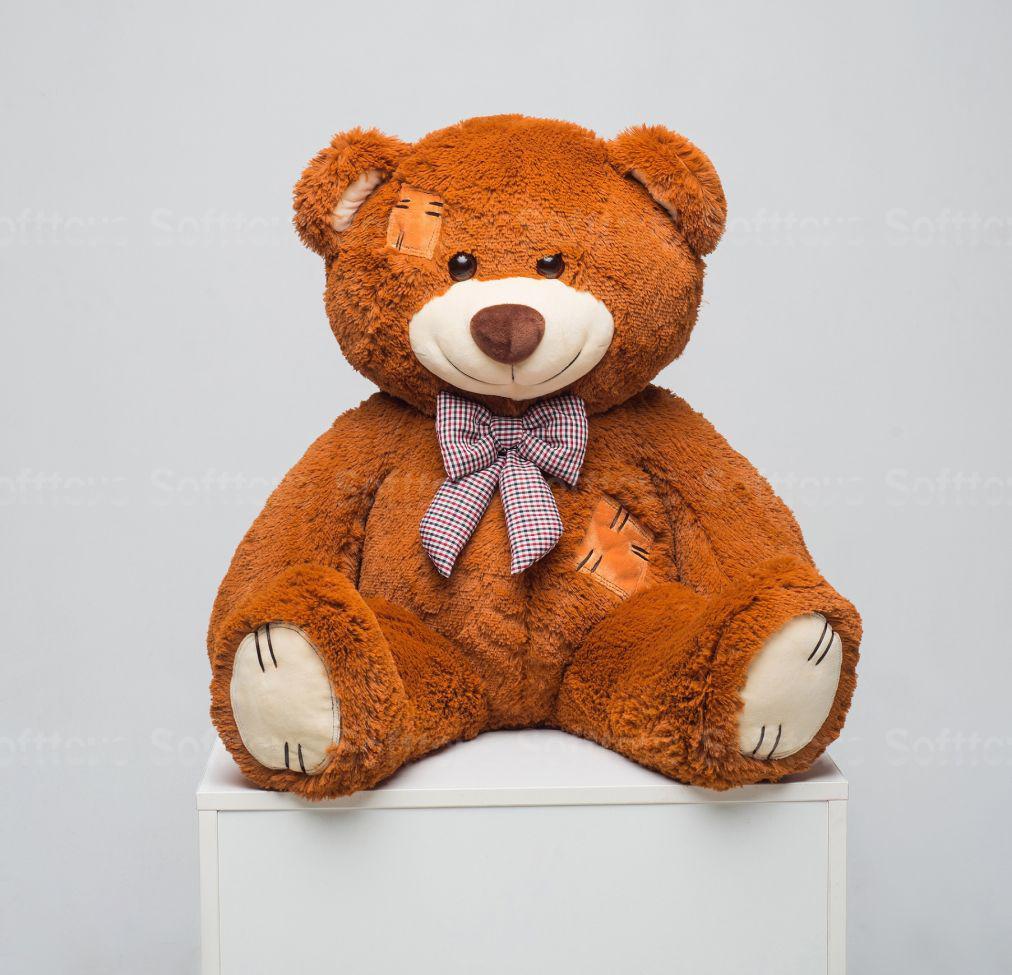 Мистер Медведь с латками 100 см карамель
