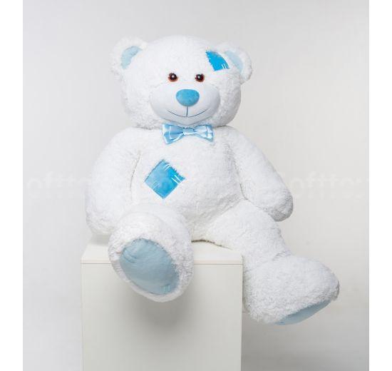 Мистер Медведь с латками 150 см Белый