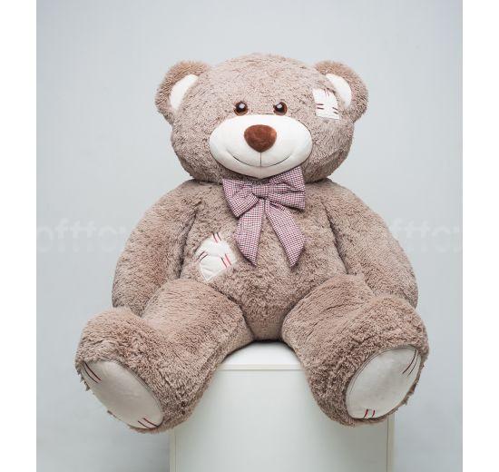 Мистер Медведь с латками 150 см капучино