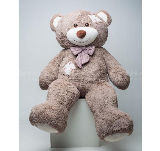 Мистер Медведь с латками 200 см капучино
