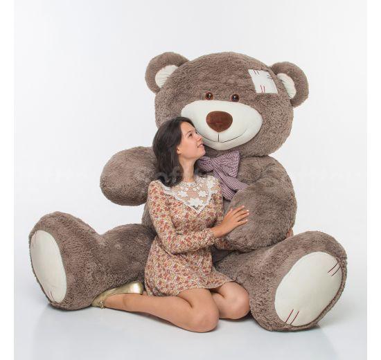 Мистер Медведь с латками 250 см капучино