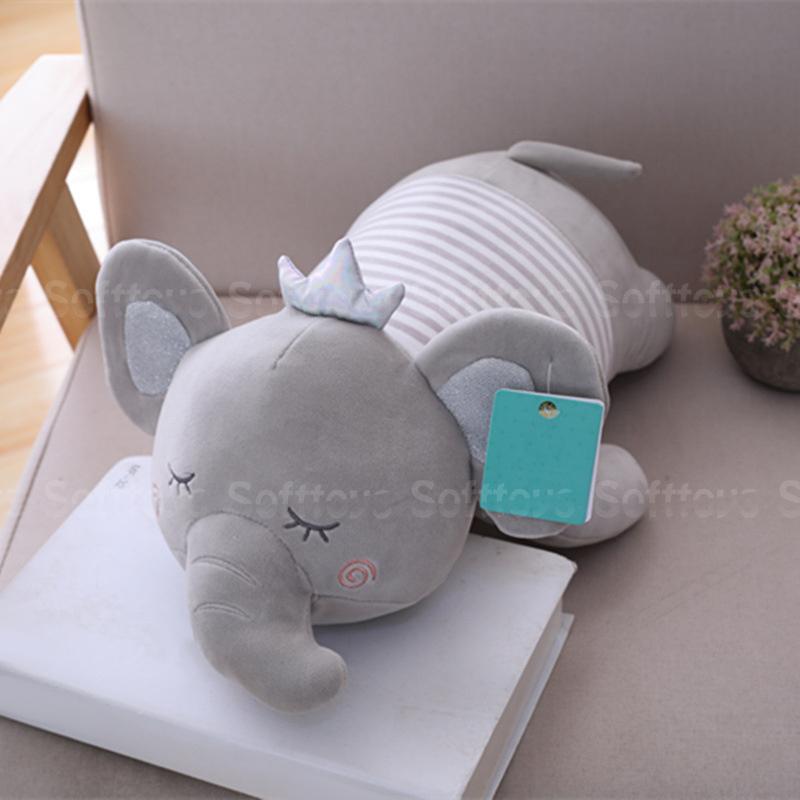 Мягкая игрушка – Сонный слоник серый