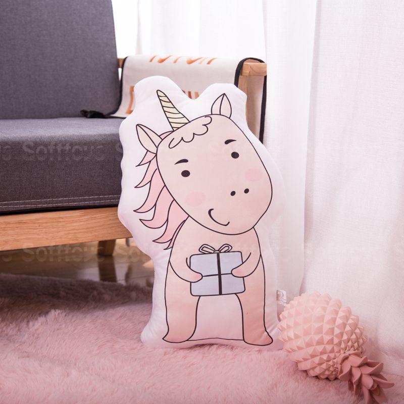 Мягкая игрушка – подушка Единорог с подарком