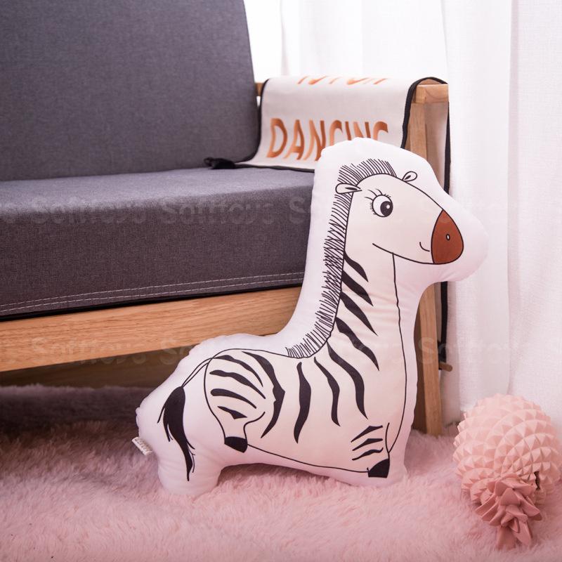Мягкая игрушка – подушка Игривая Зебра