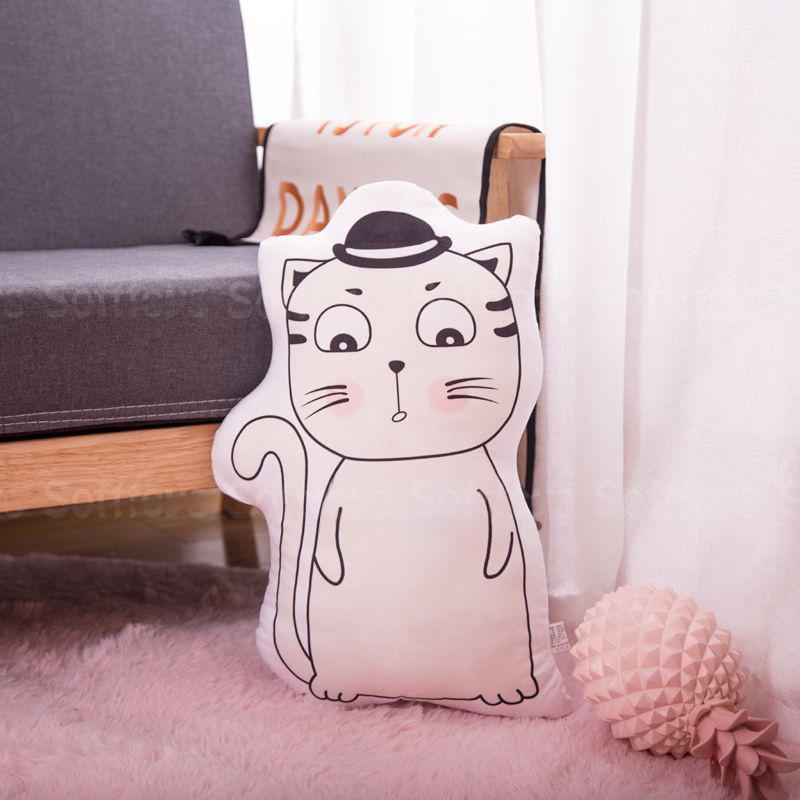 Мягкая игрушка – подушка Задумчивый котик
