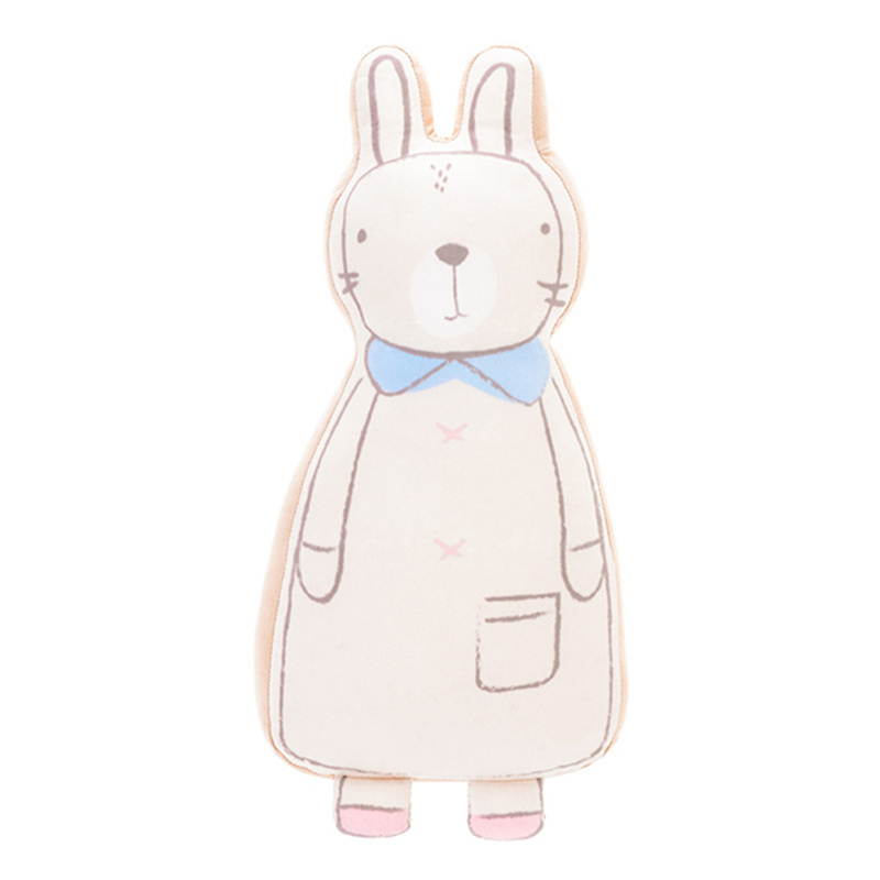 Мягкая игрушка - подушка Бежевый Зайчик