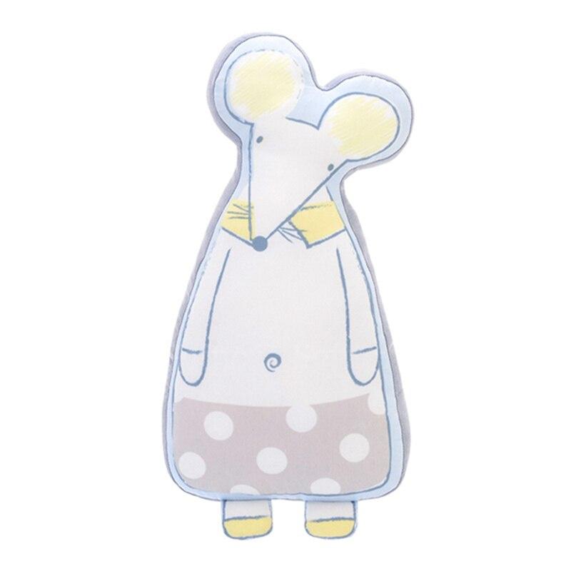 Мягкая игрушка - подушка Белый Мышонок