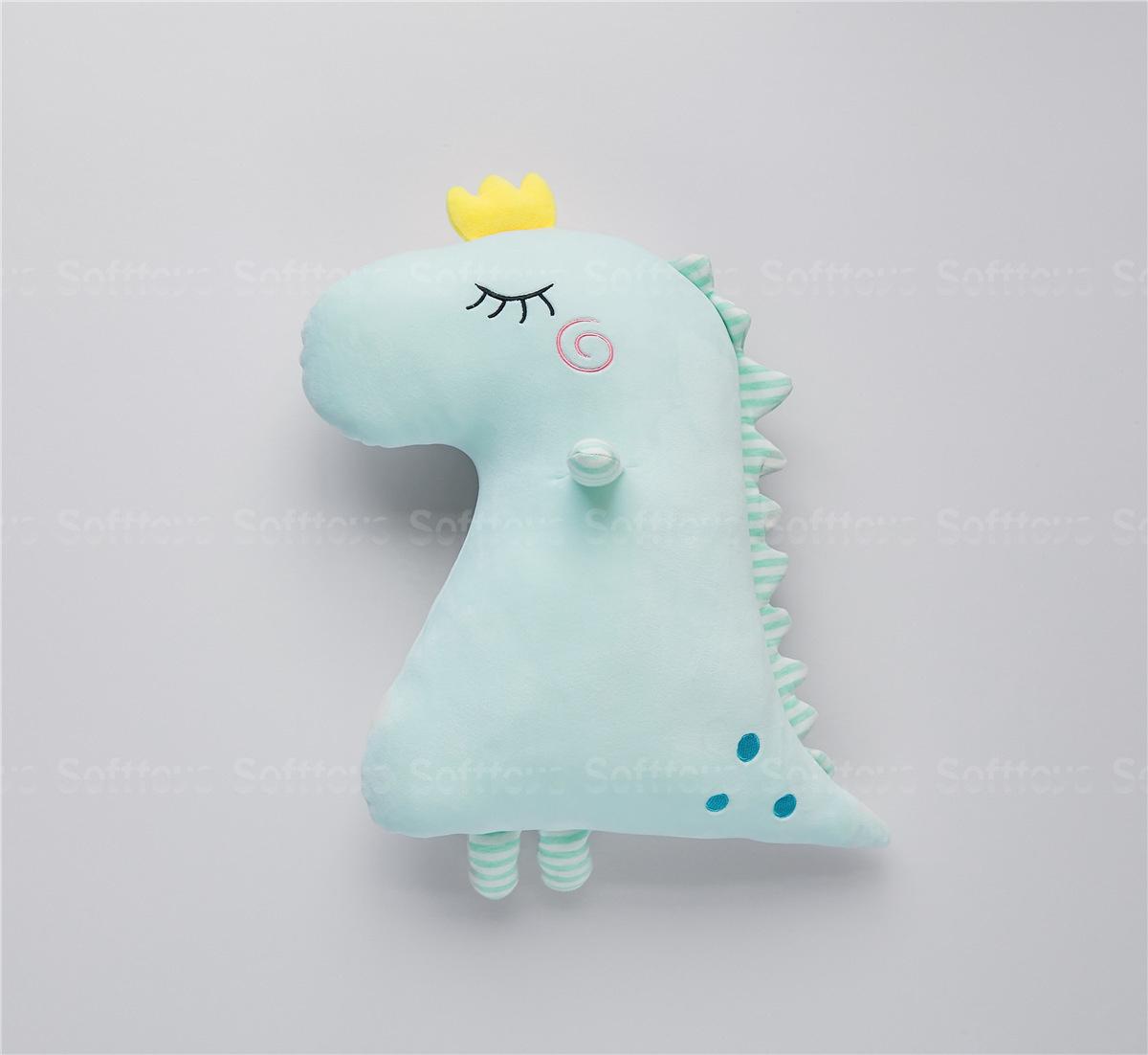 Мягкая игрушка - подушка Динозаврик голубой