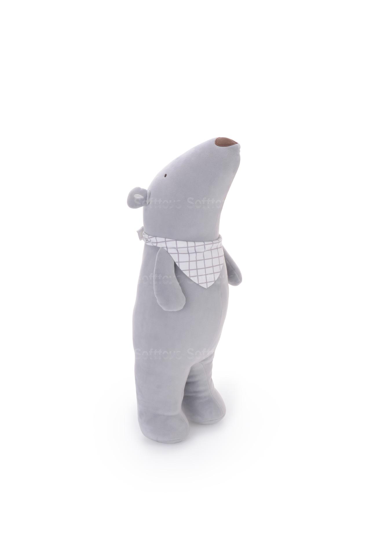 Мягкая игрушка- подушка Мишутка серый