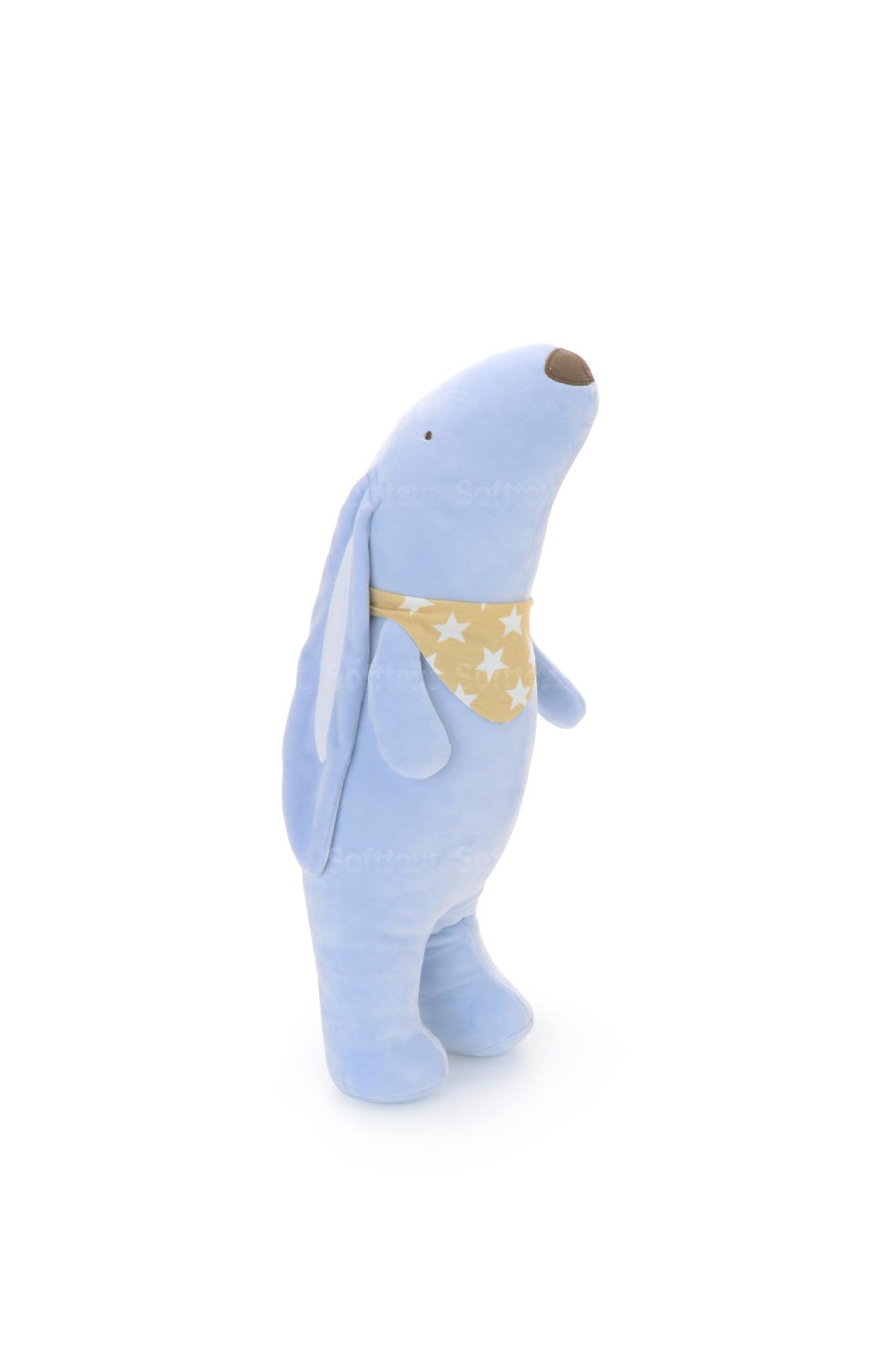 Мягкая игрушка- подушка Зайчёнок голубой