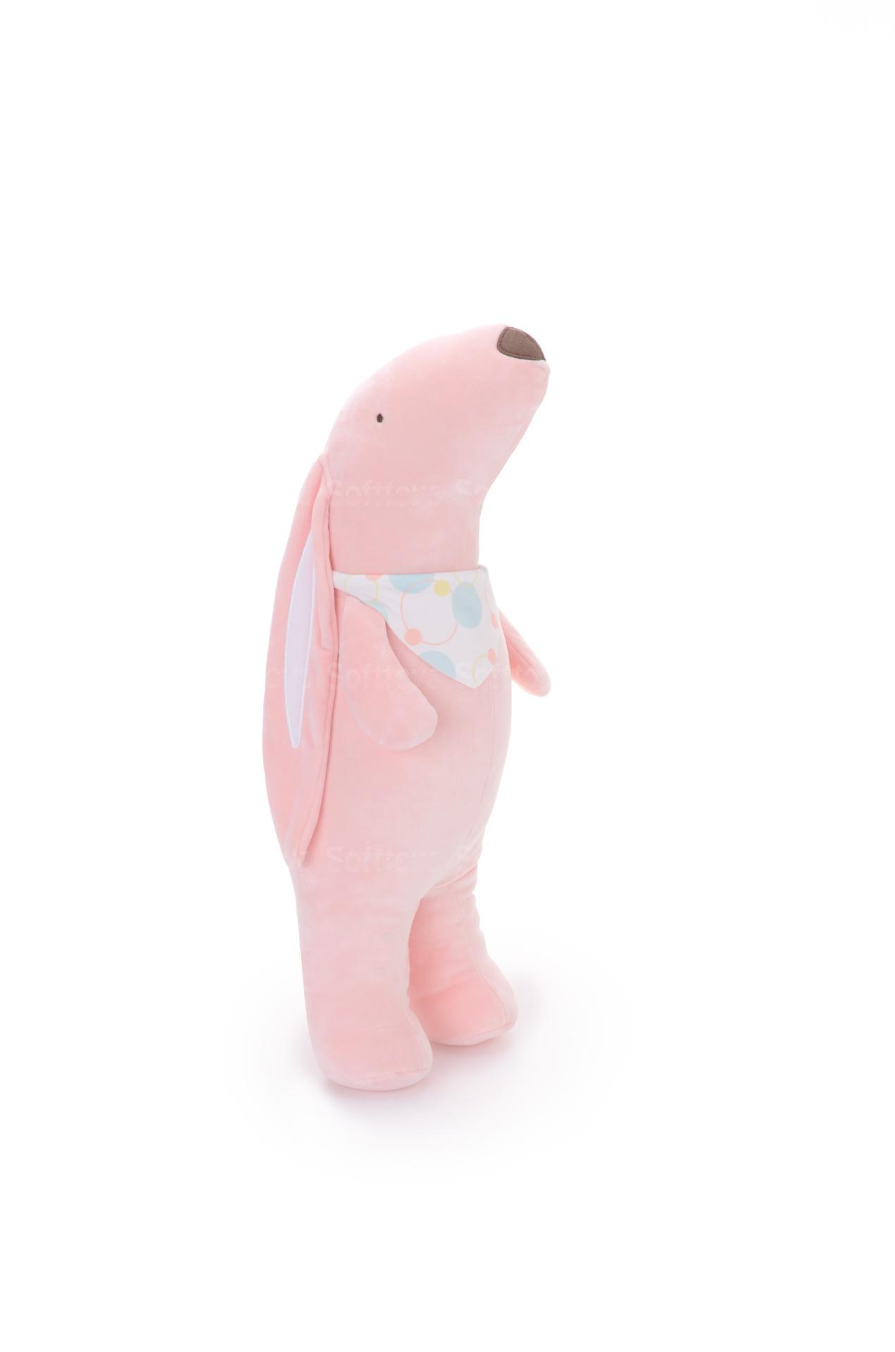 Мягкая игрушка- подушка Зайчёнок розовый