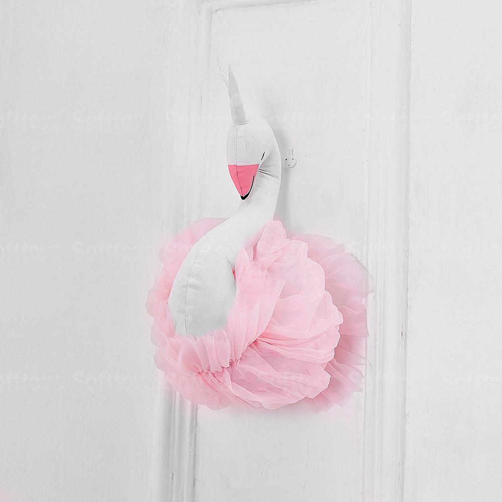 Мягкая игрушка- украшение Лебедь Pink