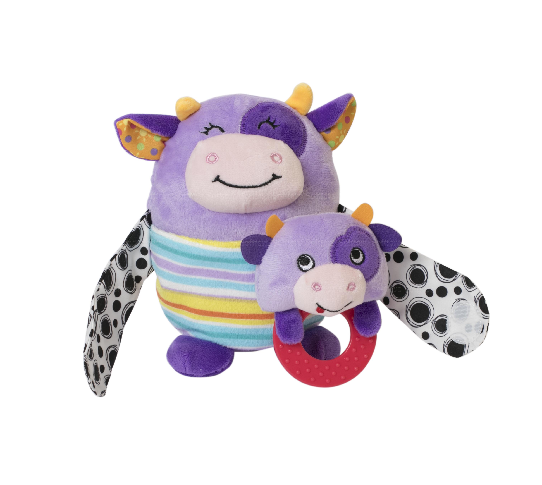 Мягкая игрушка BabyTeam Мама с малышом Коровка