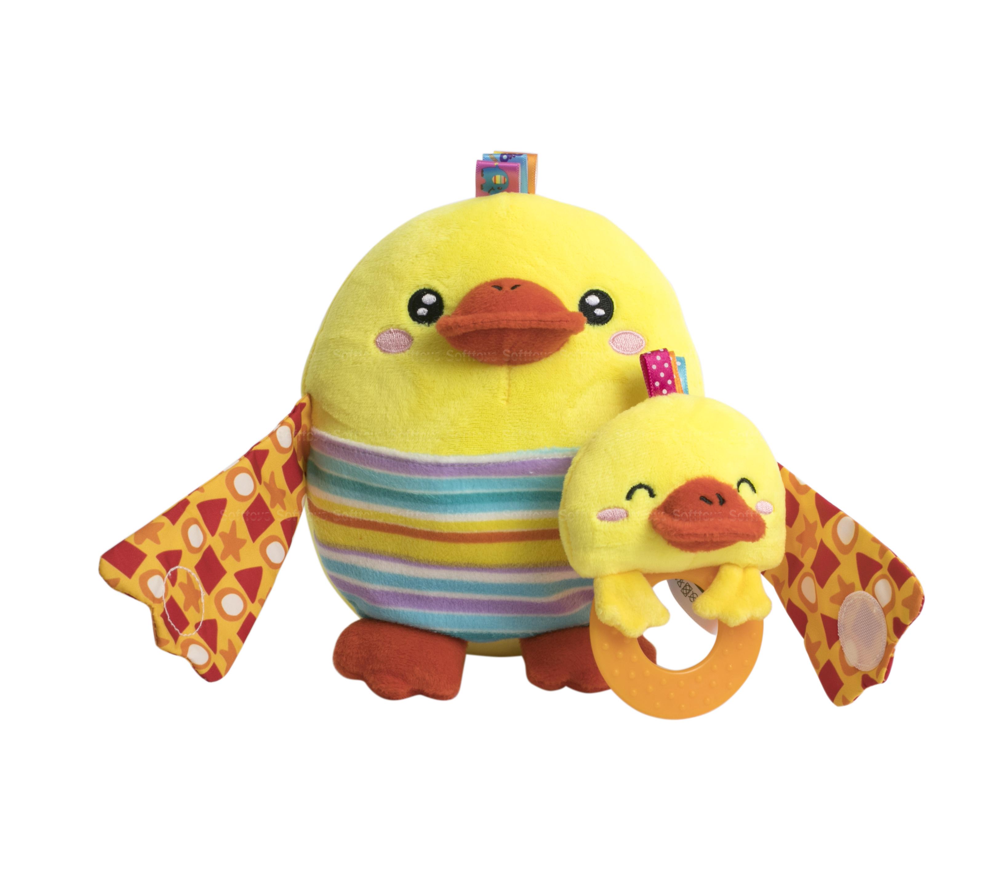 Мягкая игрушка BabyTeam Мама с малышом Цыпленок