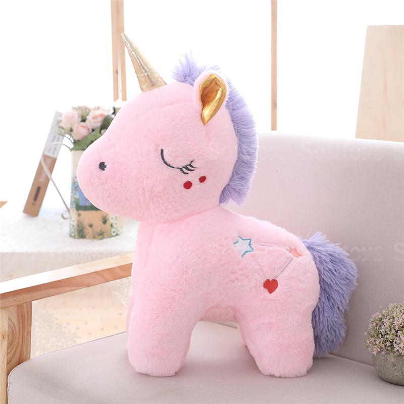 Мягкая игрушка Единорожек Сплюша розовый 35см