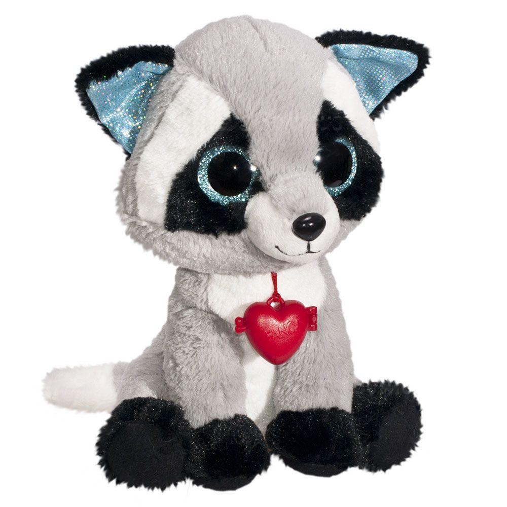 Мягкая игрушка Глазастик Енот с кулоном 22 см