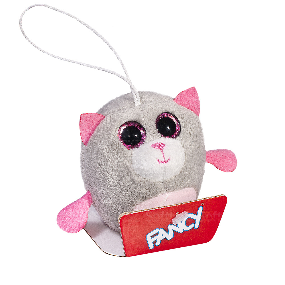Мягкая игрушка-брелок Глазастик Котик 8 см