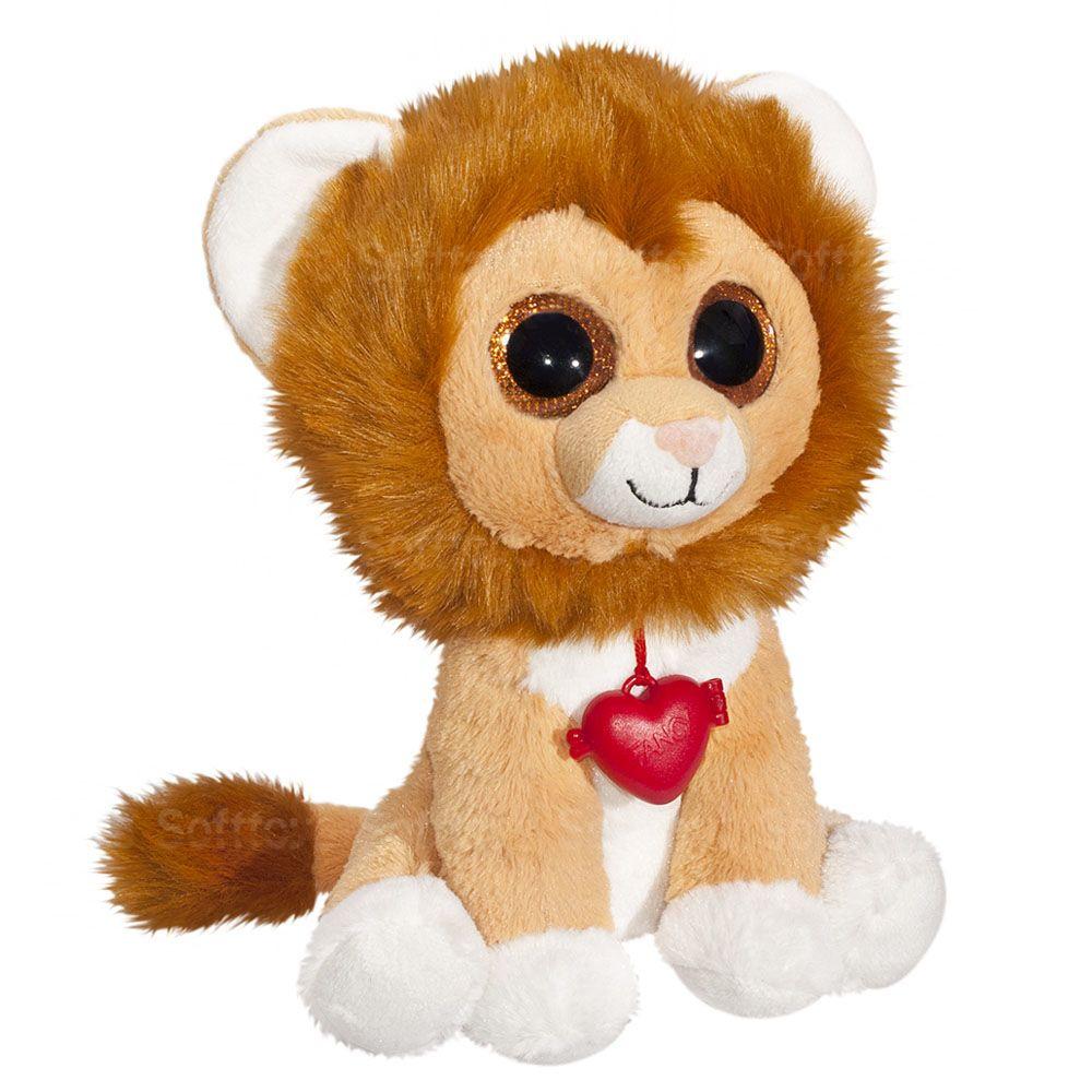 Мягкая игрушка Глазастик Лев с кулоном 22 см