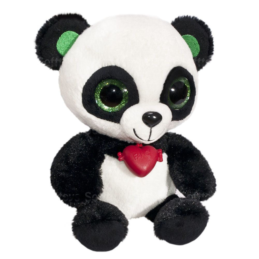 Мягкая игрушка Глазастик Панда с кулоном 22 см