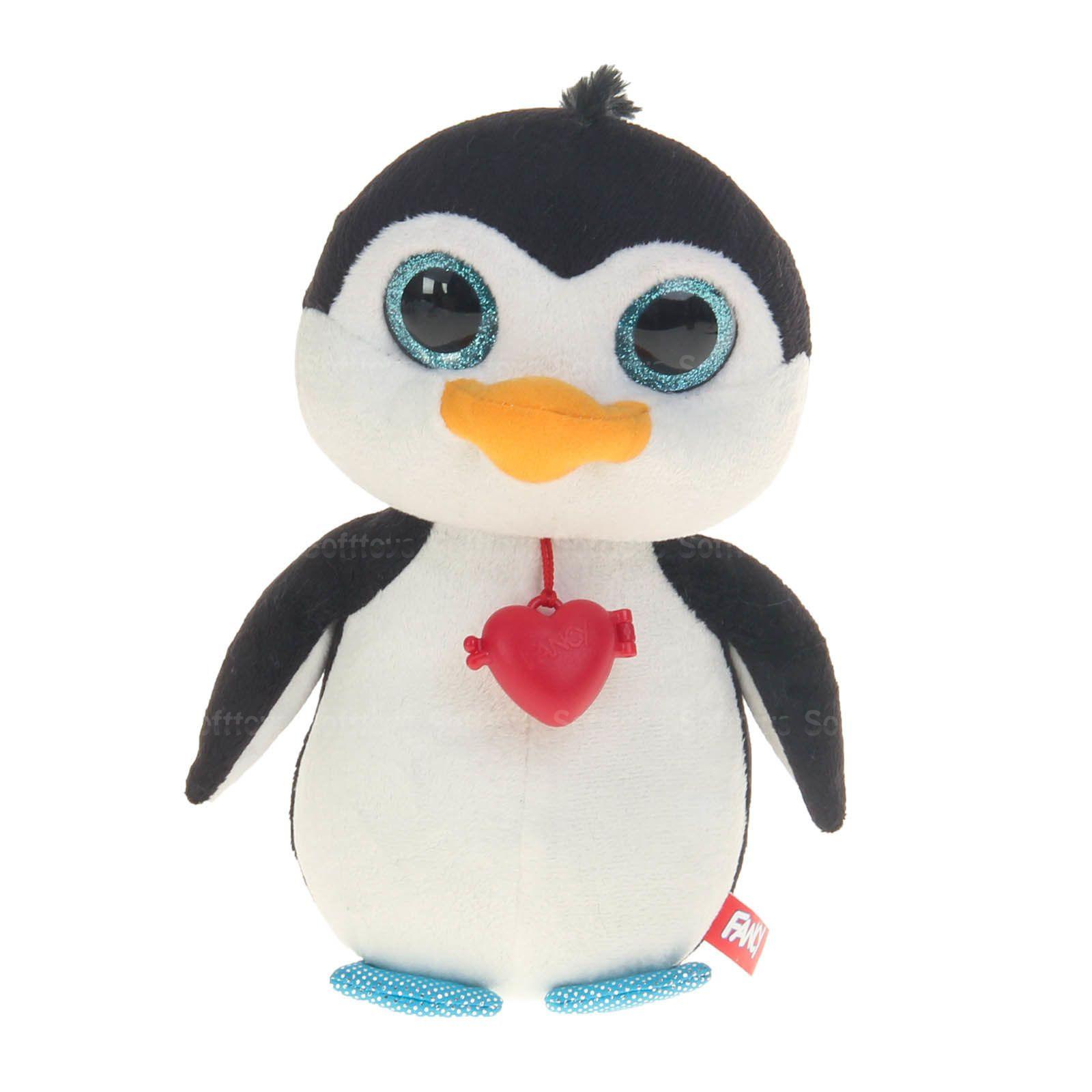 Мягкая игрушка Глазастик Пингвин с кулоном 22 см