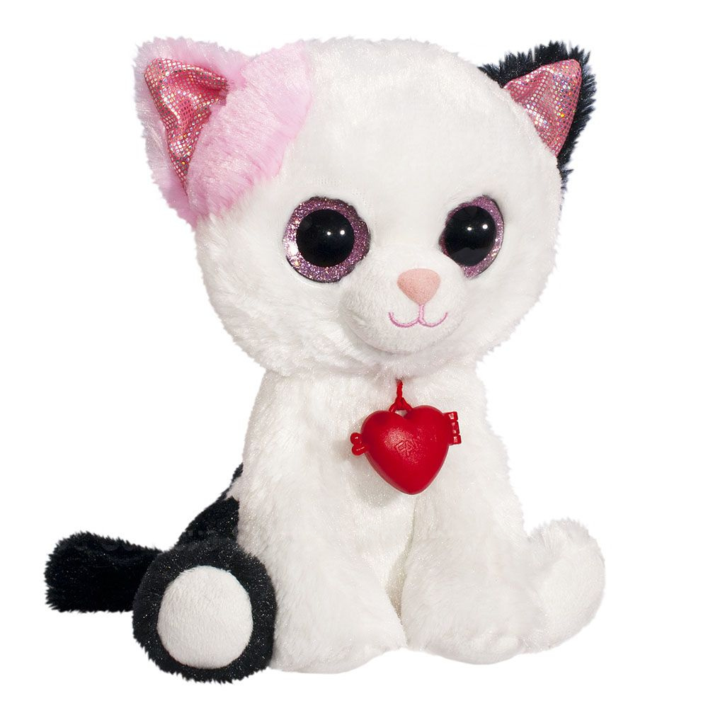 Мягкая игрушка Глазастик кошечка с кулоном 22 см
