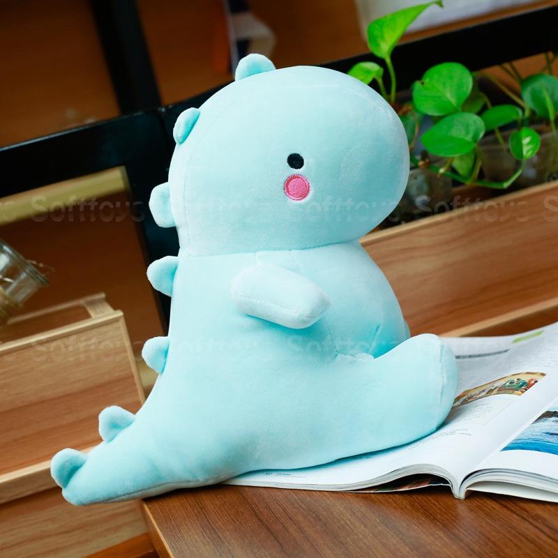 Мягкая игрушка Голубой Динозаврик 30см