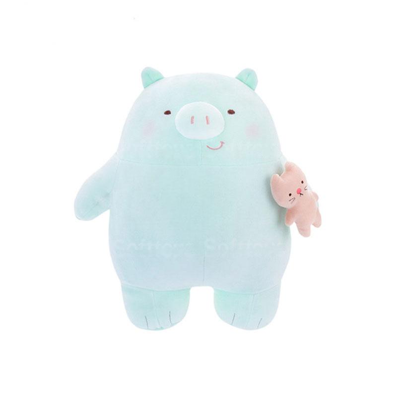 Мягкая игрушка Хрю голубой