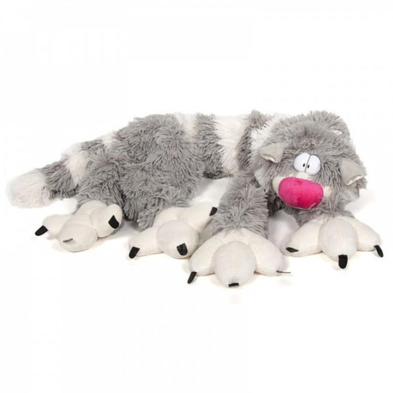 Мягкая игрушка кот длинный бекон