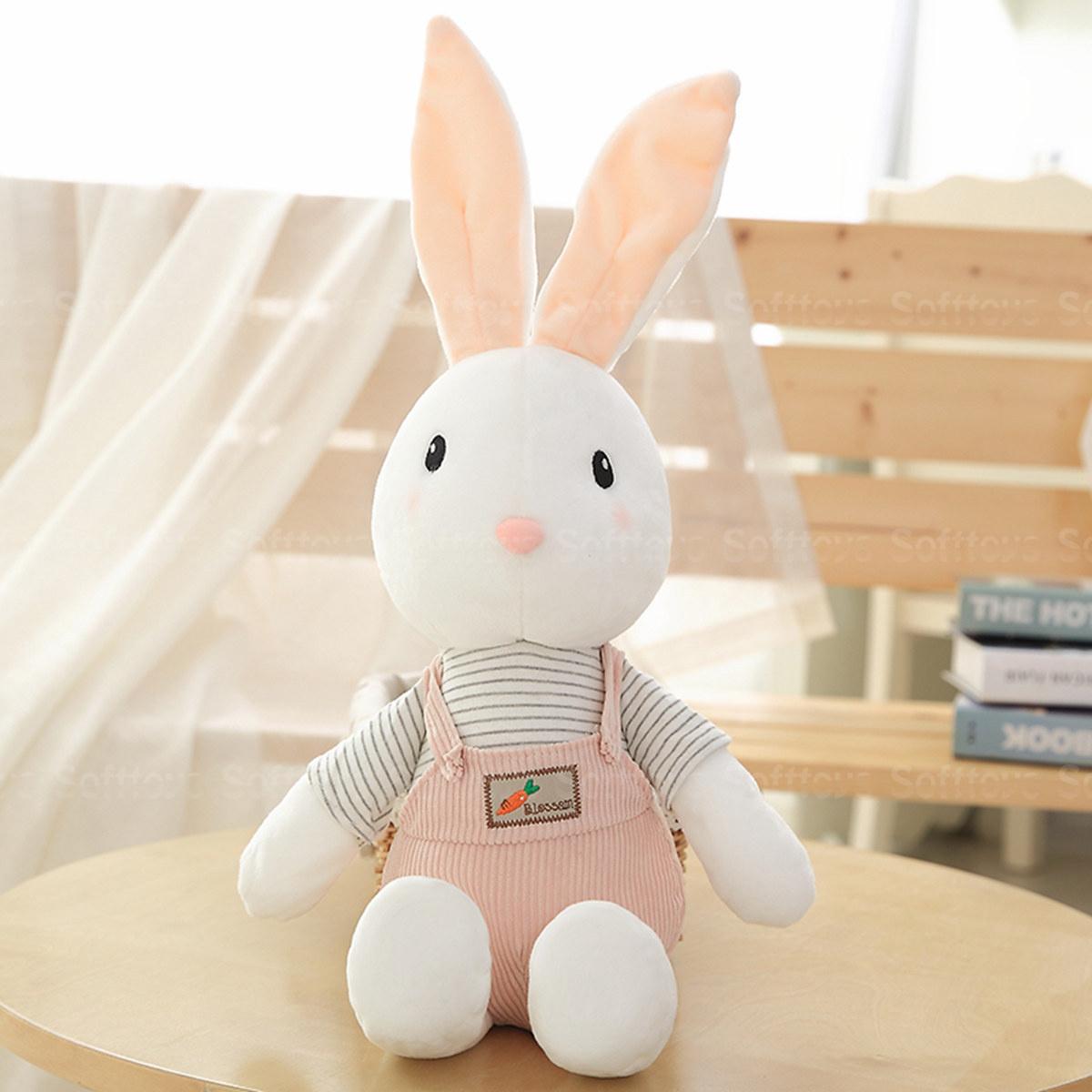 Мягкая игрушка Кролик в розовых штанишках