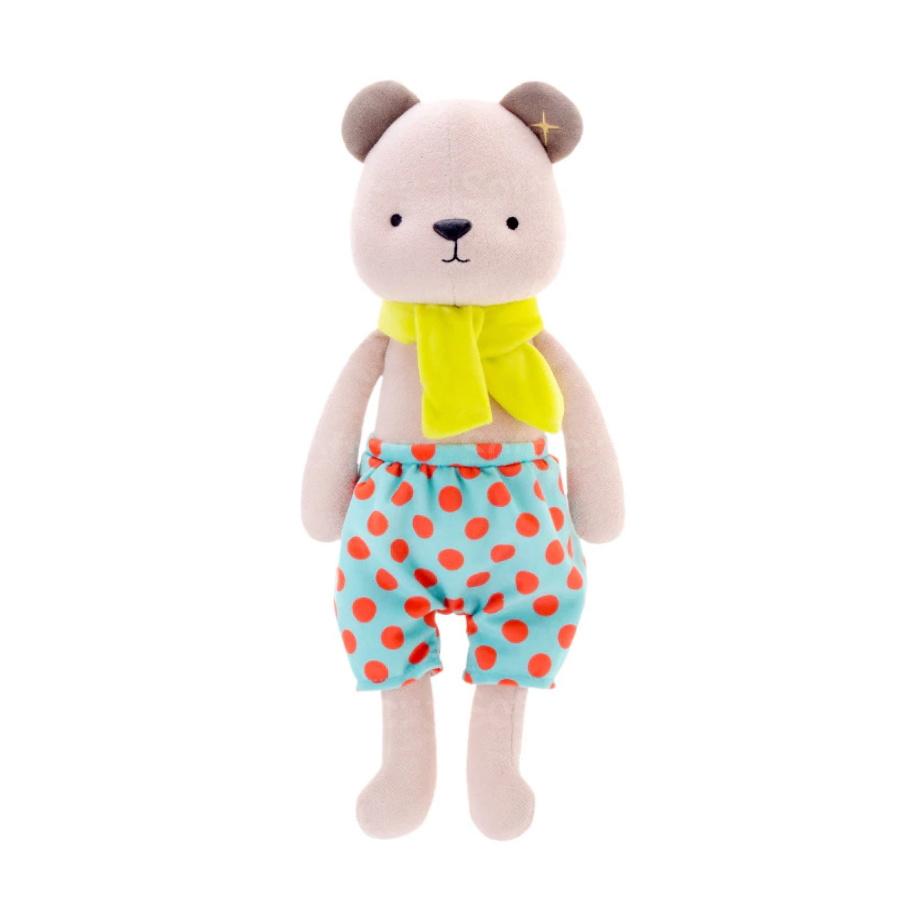 Мягкая игрушка Медвежонок в голубых шортах