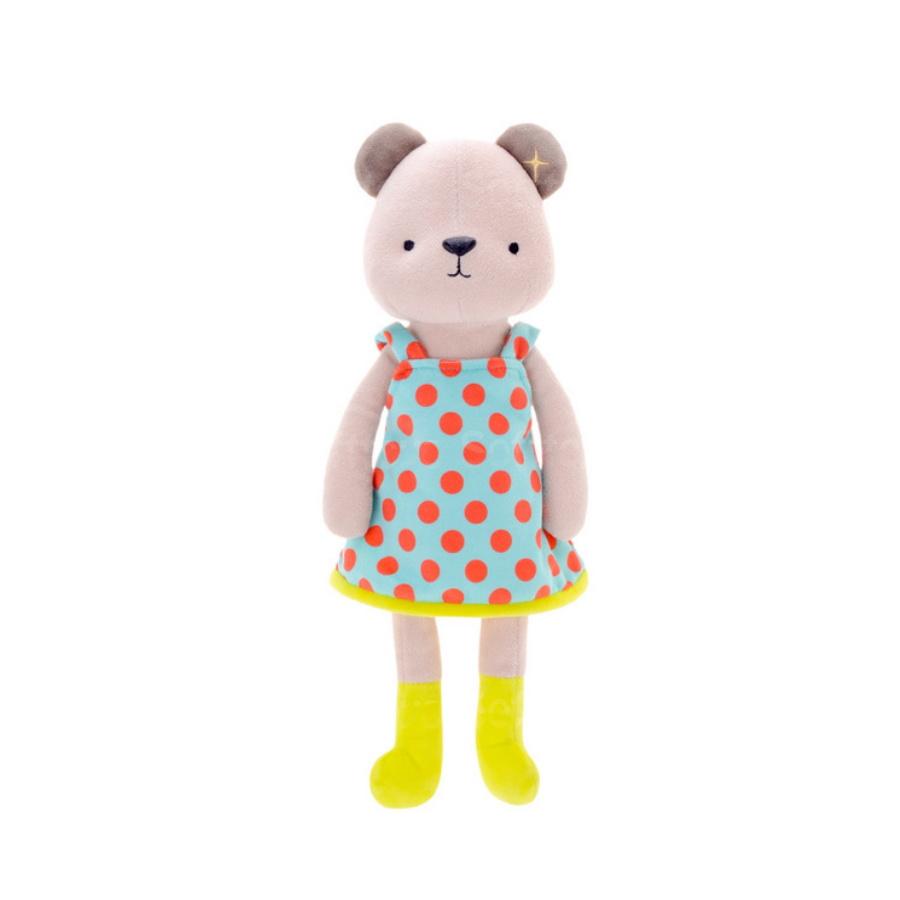 Мягкая игрушка Медвежонок в голубом платье