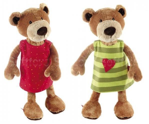 Мягкая игрушка Медвежонок в платье