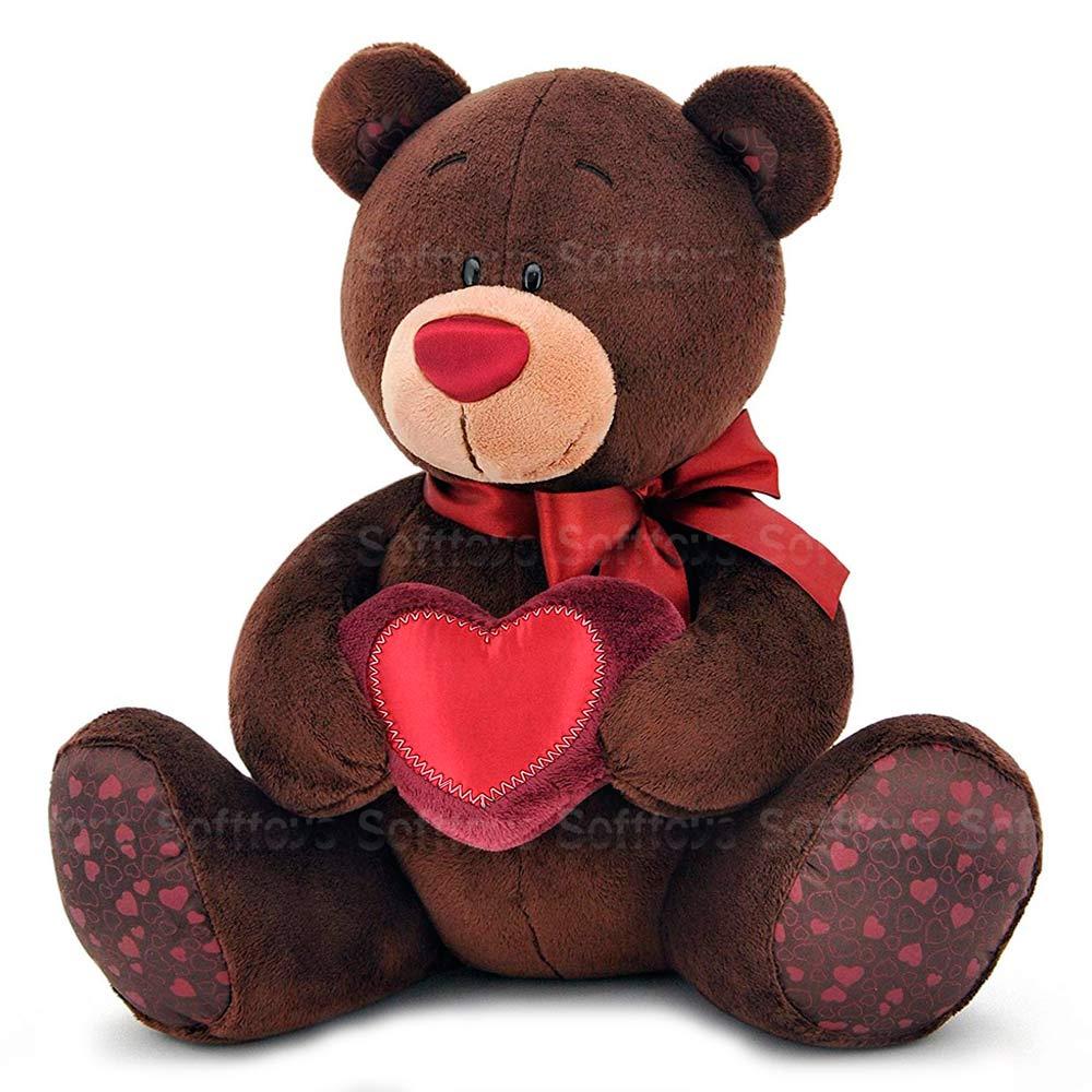 Мягкая игрушка Мишка Choco с сердцем