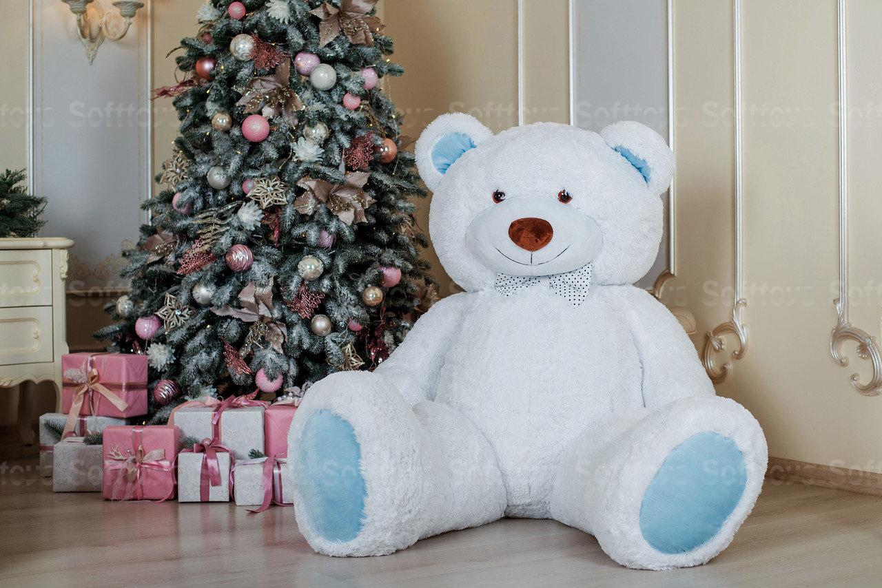 Мягкая игрушка Мишка Ричард Бело-голубой