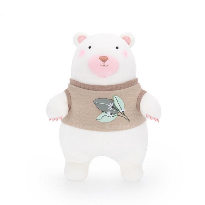 Мягкая игрушка Мишка в коричневом свитере 24см