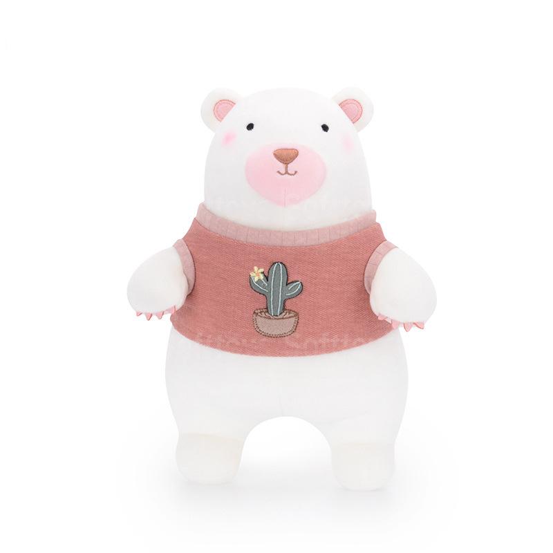 Мягкая игрушка Мишка в красном свитере 35см